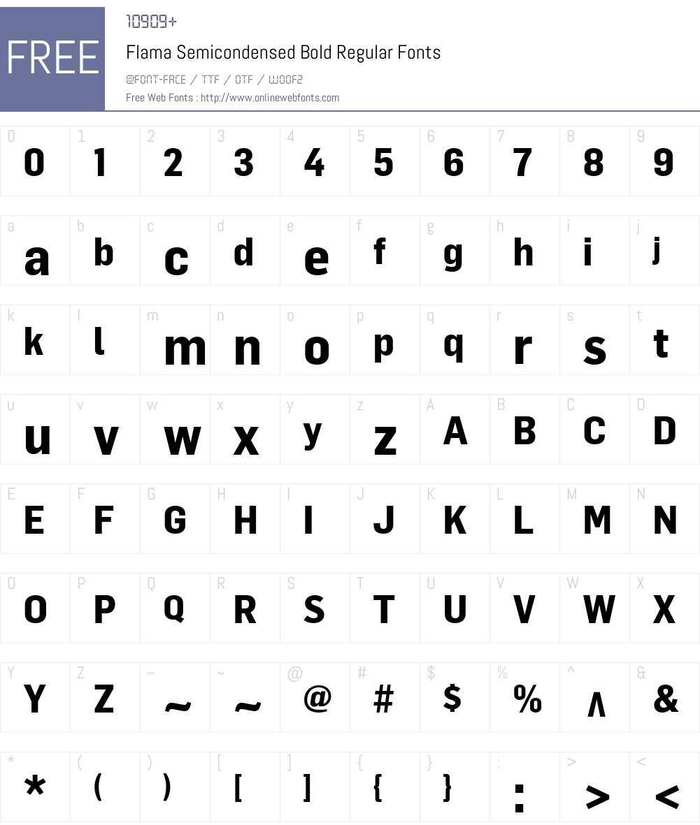 flama semi condensed font free download