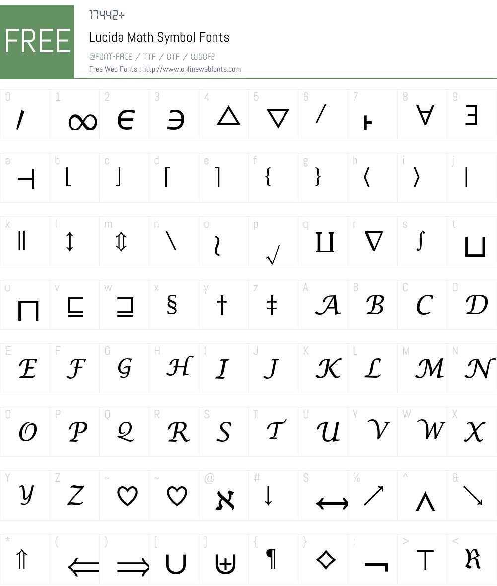 Lucida Math Symbol 001000 Fonts Free Download Onlinewebfonts