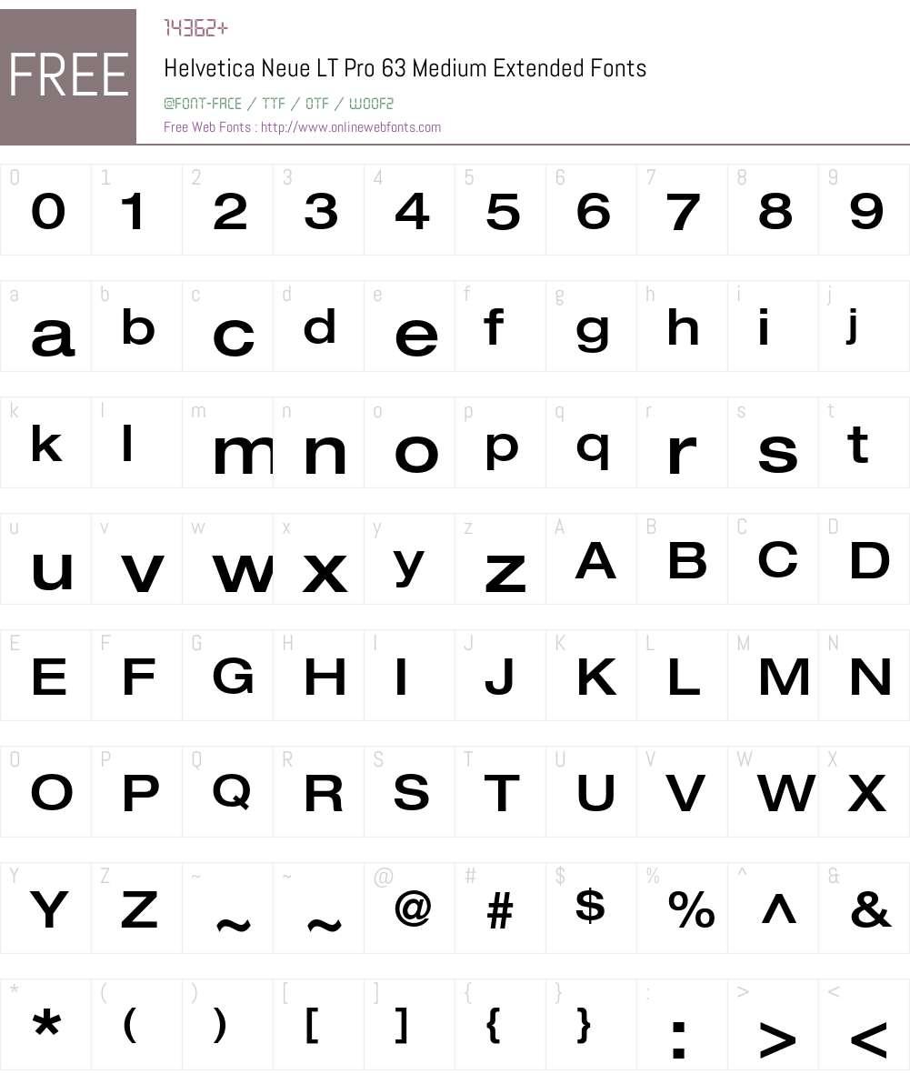 Helvetica Neue LT Pro 63 Medium Extended 1 000