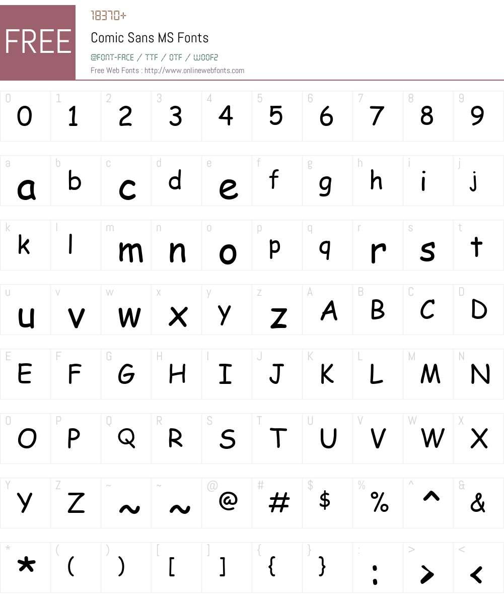 Comic Sans MS V3 5 00 Fonts Free Download - OnlineWebFonts COM