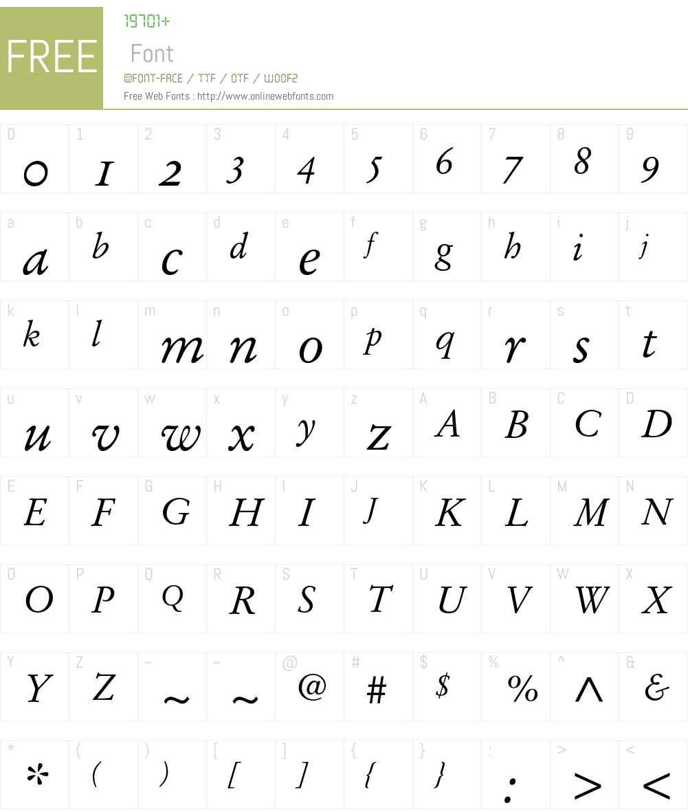 Stempel Garamond Italic Oldstyle Figures 001 000 Fonts Free Download