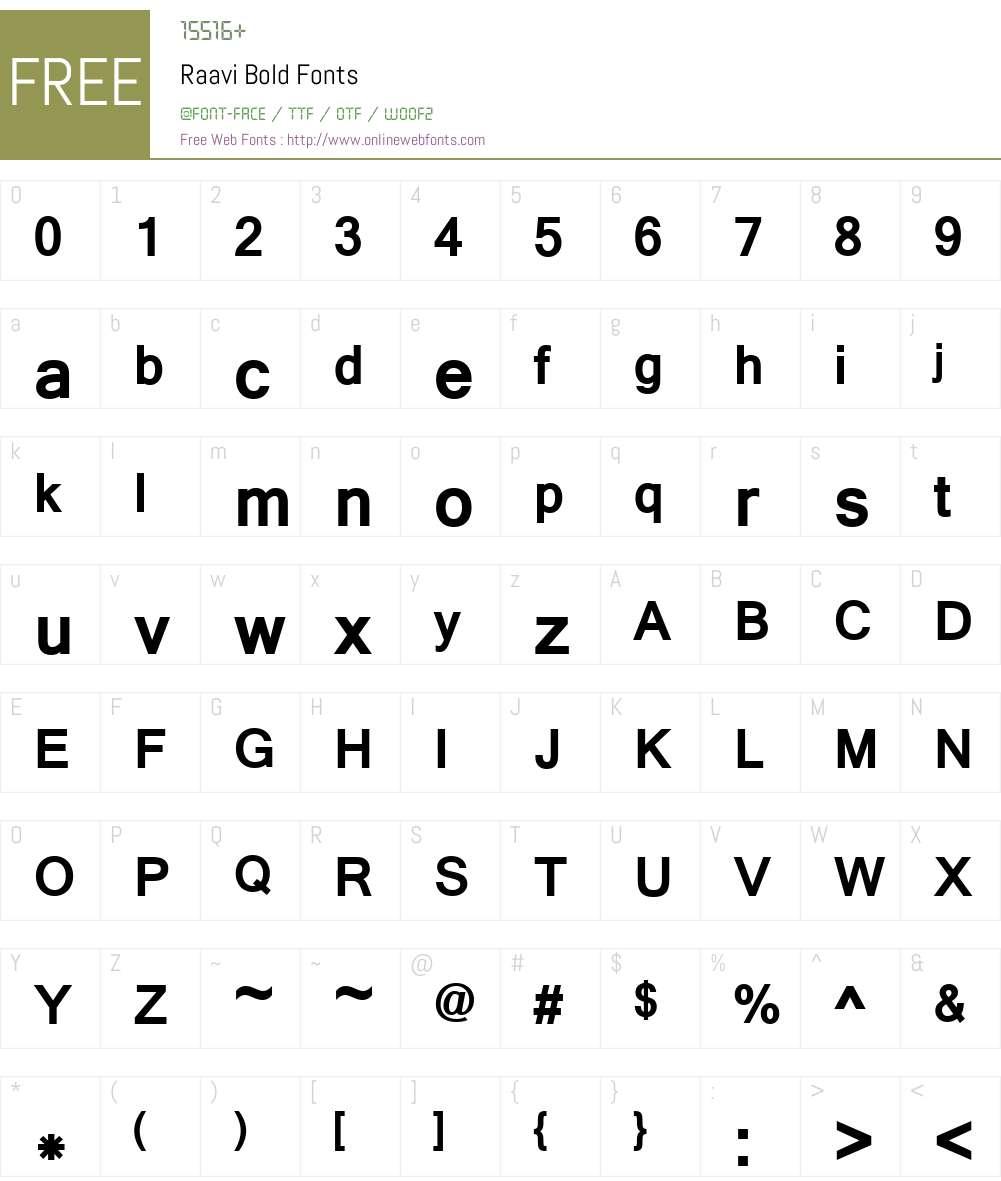 Raavi Bold 5 90 Fonts Free Download - OnlineWebFonts COM