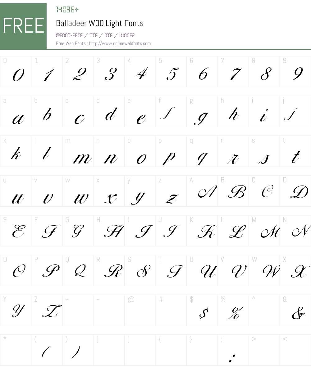 balladeer light font