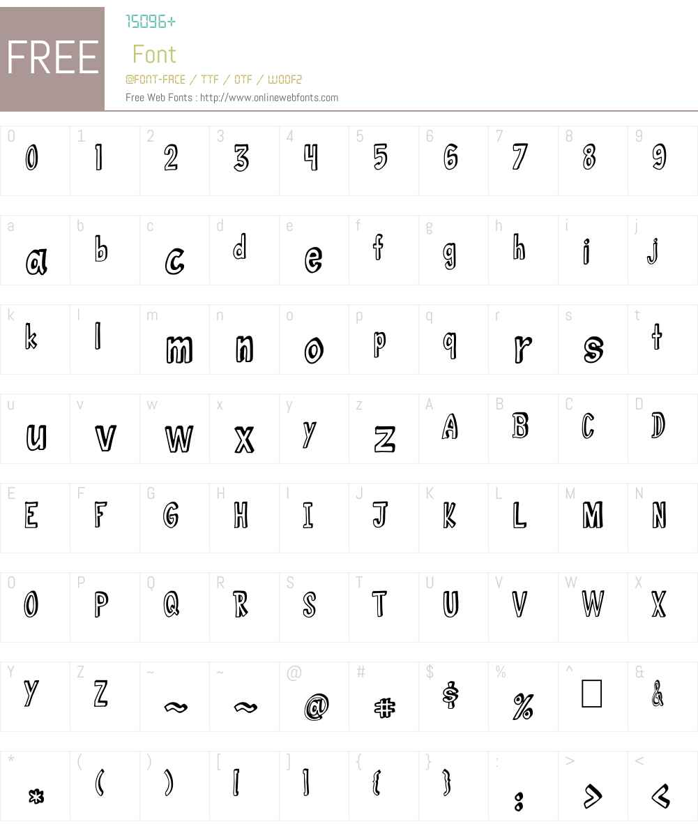 abc 3D 1 00 May 31, 2013, initial release Fonts Free
