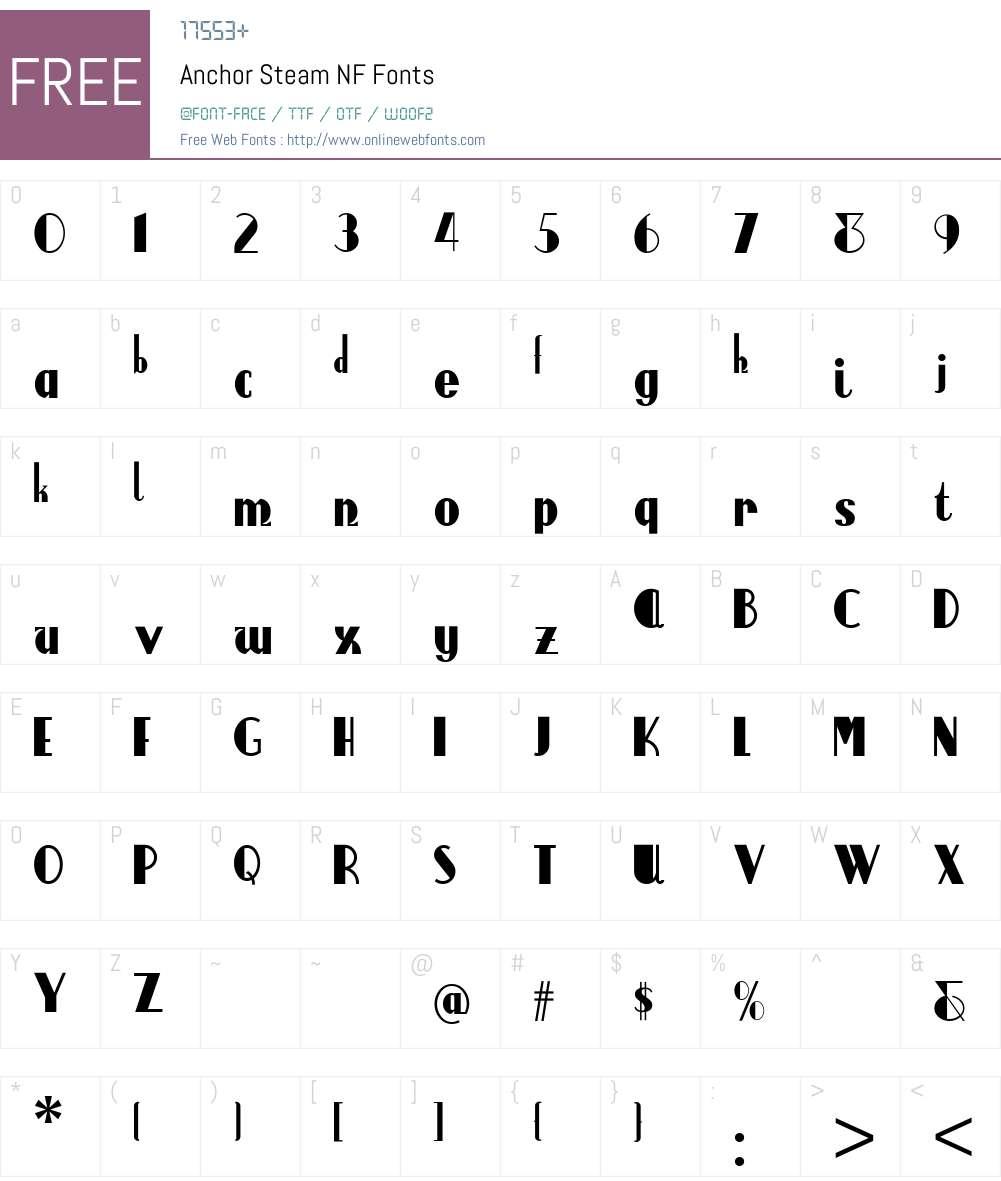 Anchor Regular Font Download For Free