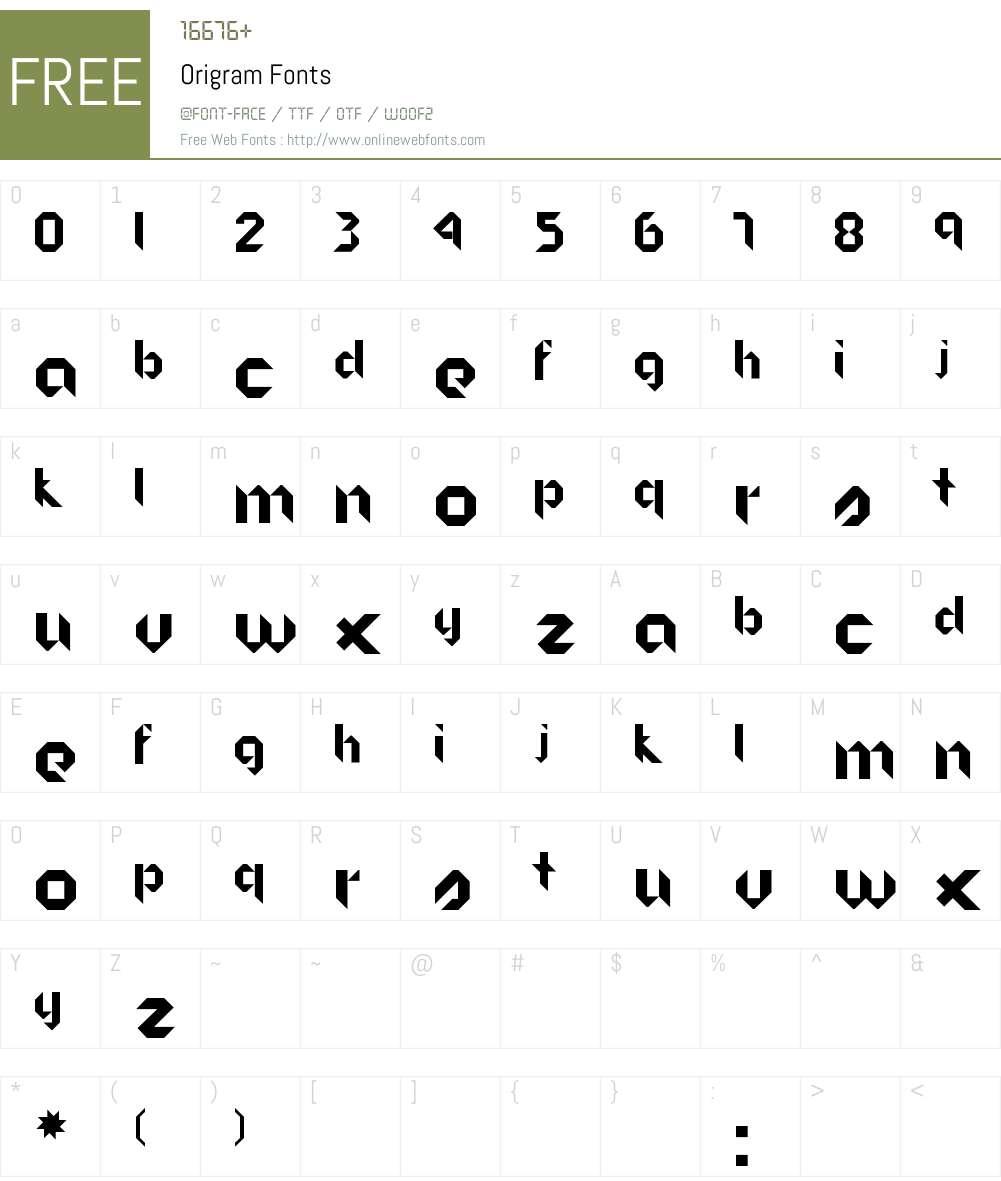 Origram 001000 Fonts Free Download