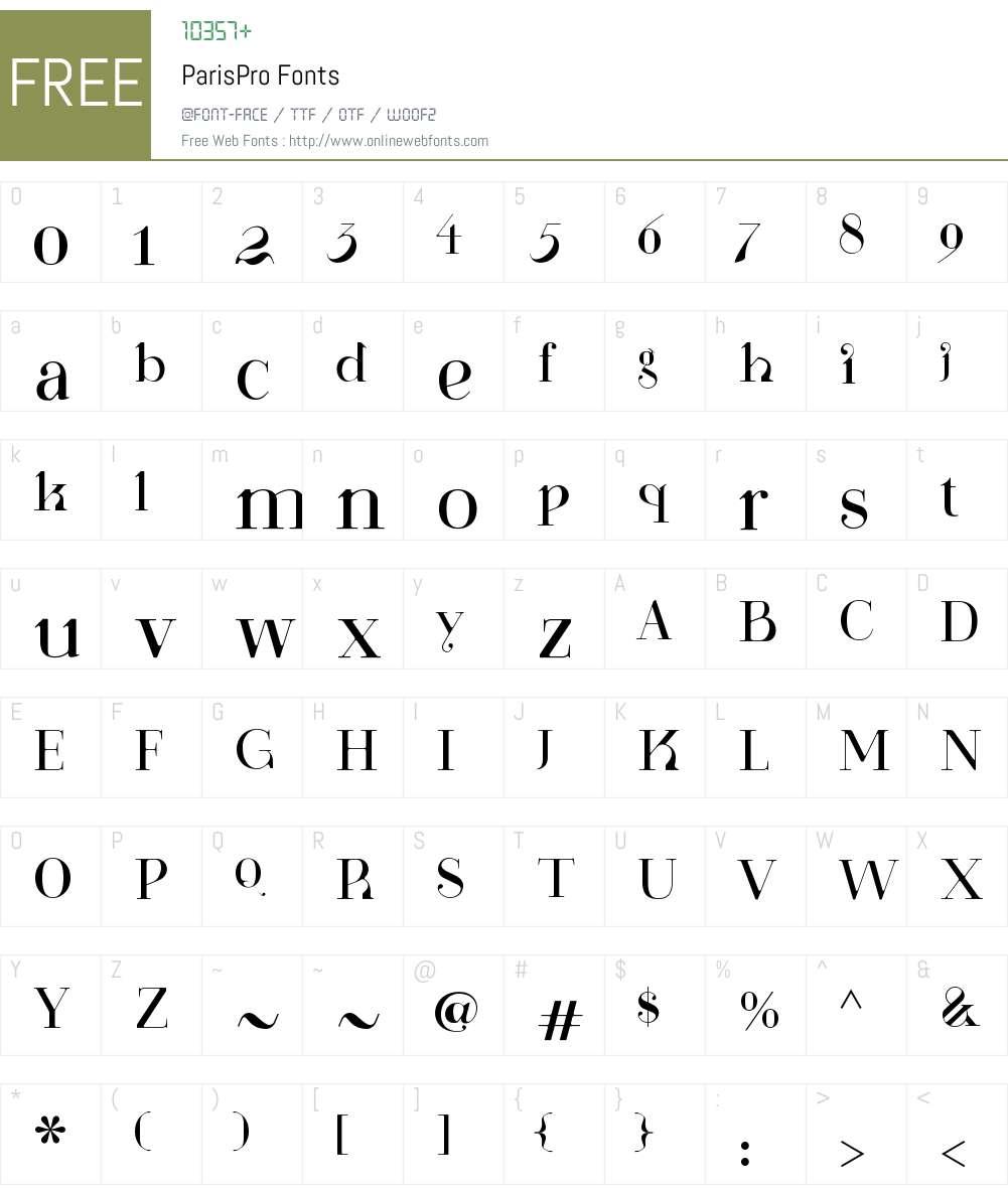 ParisPro 1 000 Fonts Free Download - OnlineWebFonts COM