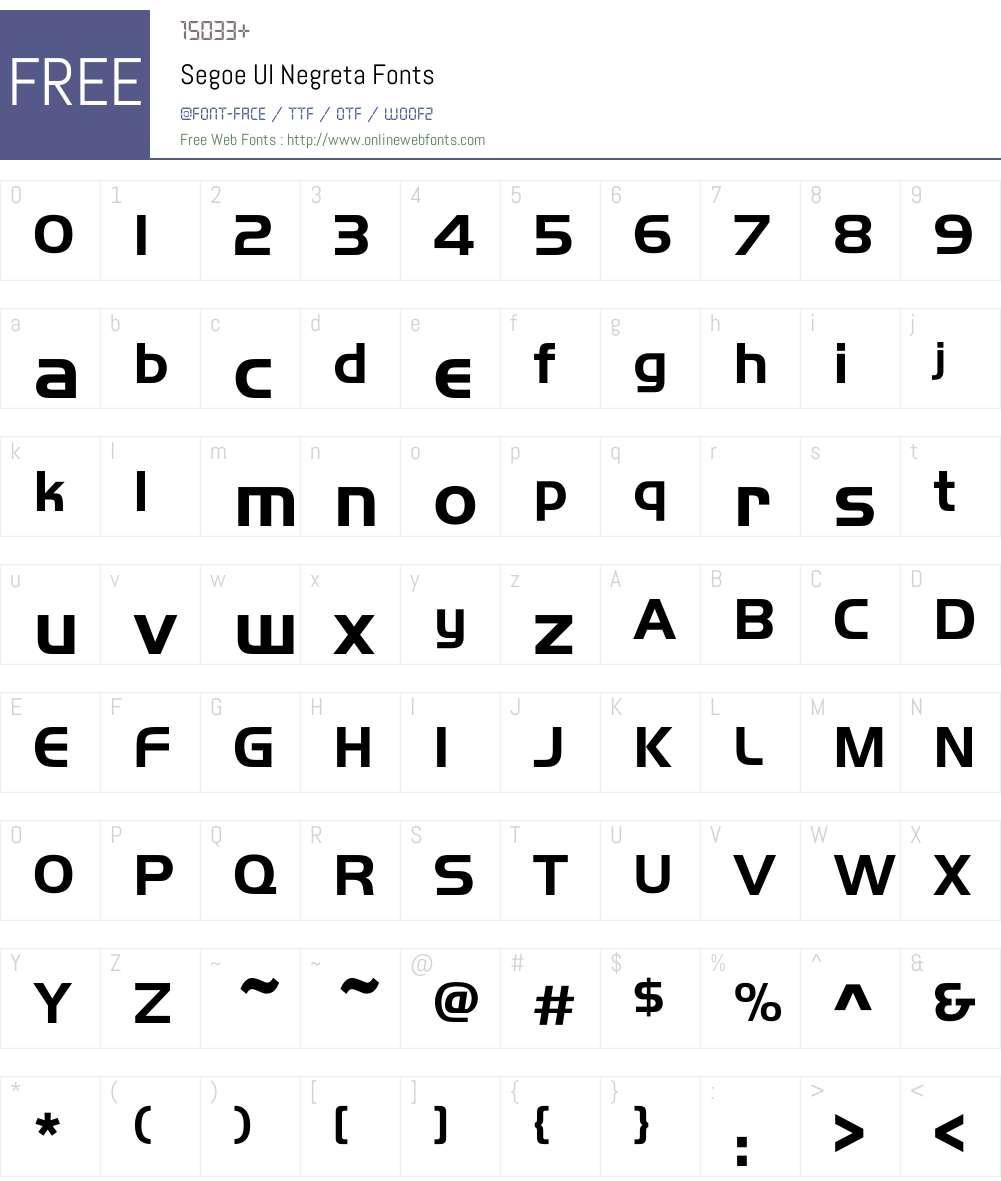 Segoe UI Negreta 5 01 Fonts Free Download - OnlineWebFonts COM