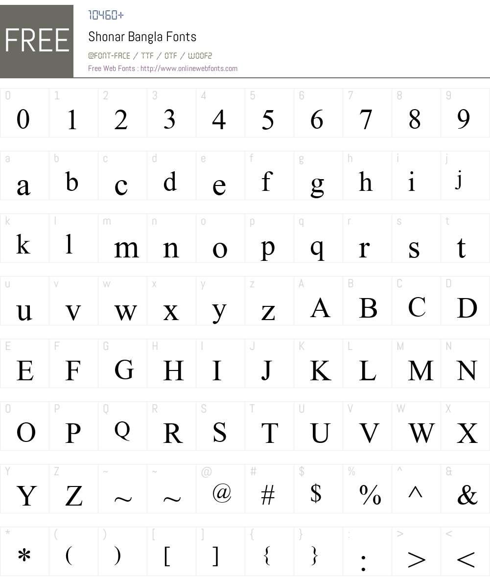 Shonar Bangla 5 91 Fonts Free Download - OnlineWebFonts COM