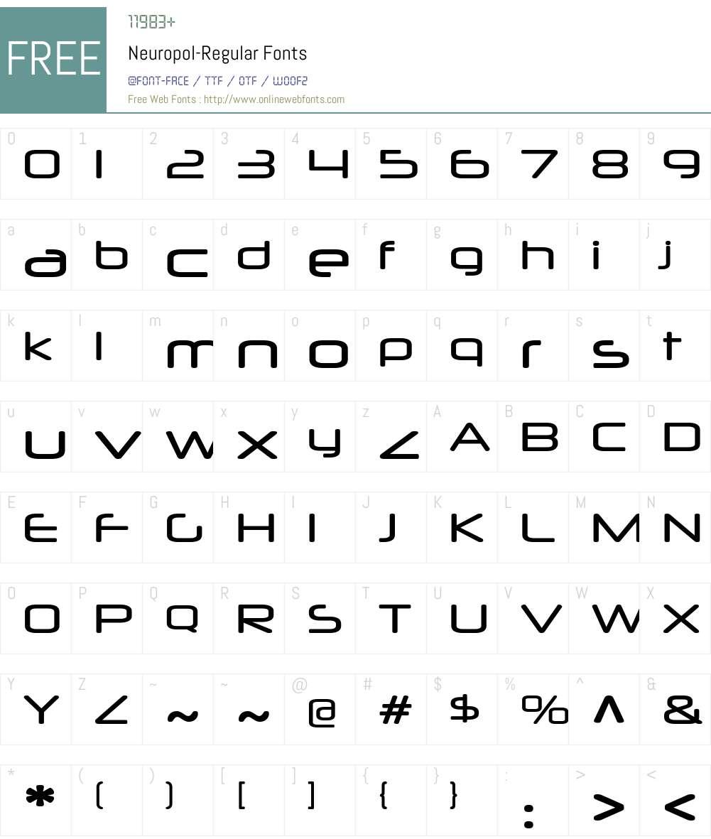 Neuropol-Regular 3 000 Fonts Free Download - OnlineWebFonts COM