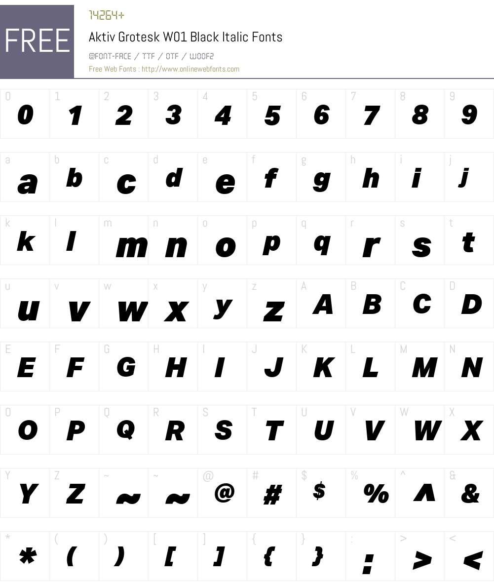 Aktiv Grotesk W01 Black Italic 1 13 Fonts Free Download