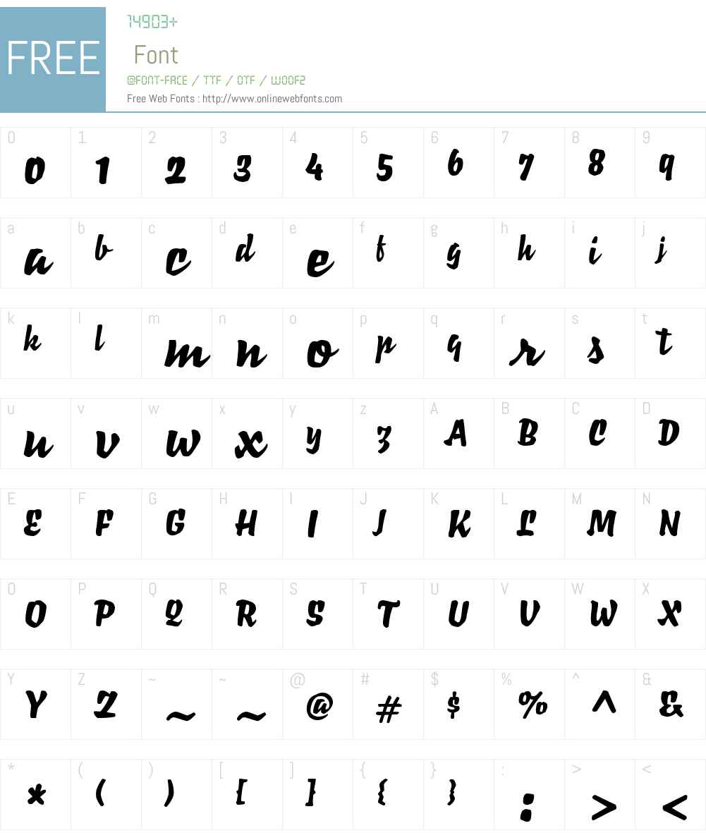 Richie W04 Regular 1 00 Fonts Free Download - OnlineWebFonts COM