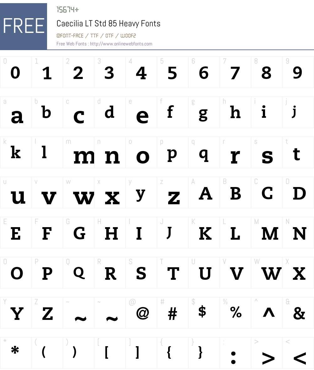Caecilia LT Std 75 Bold font
