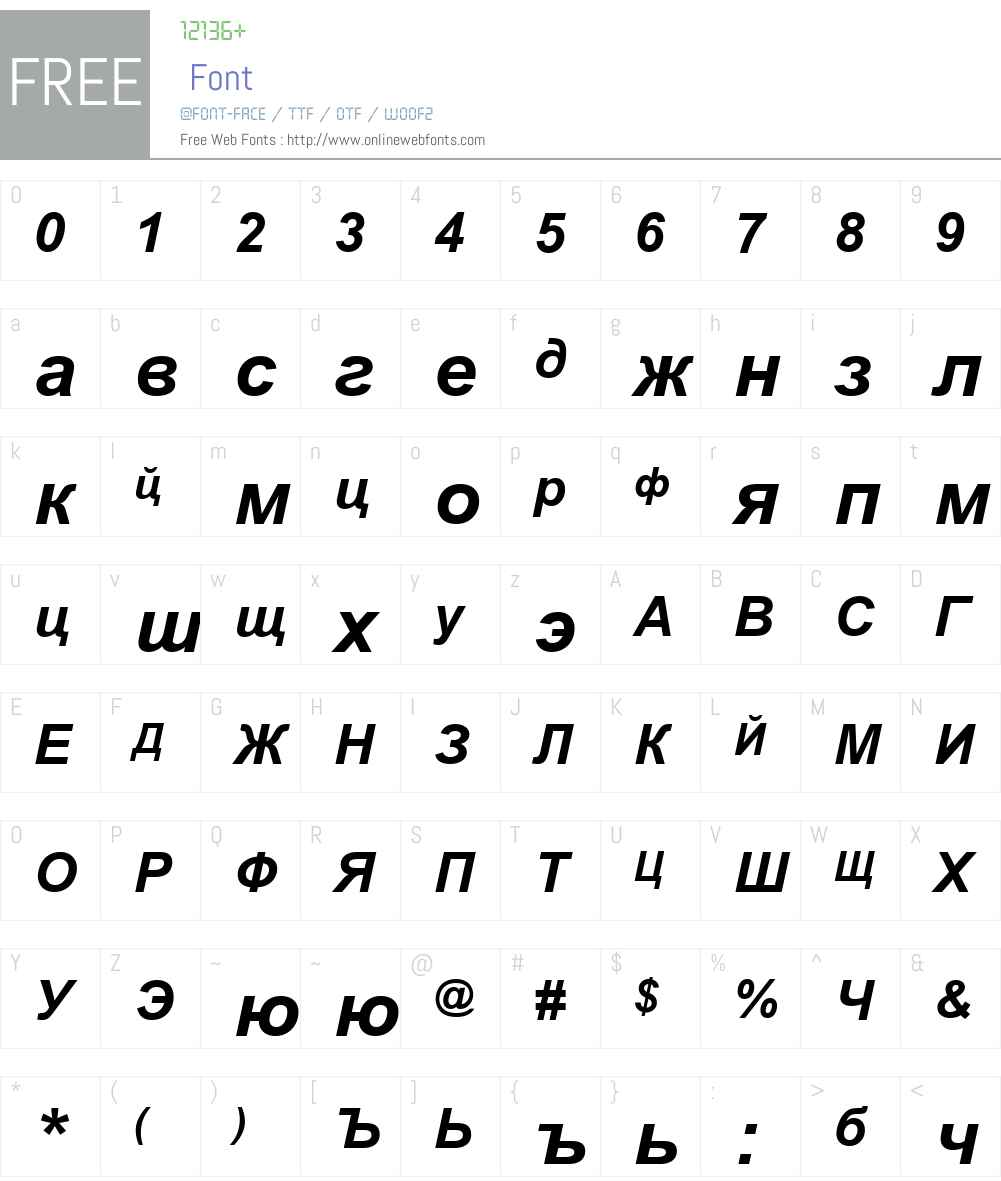 Russian Bold Italic 2 76 Fonts Free Download