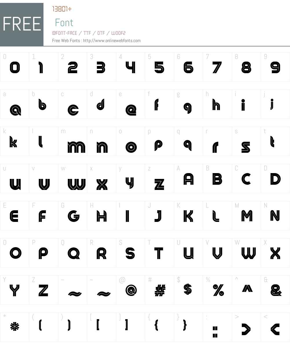 colow01 regular font screenshots - Free Colo