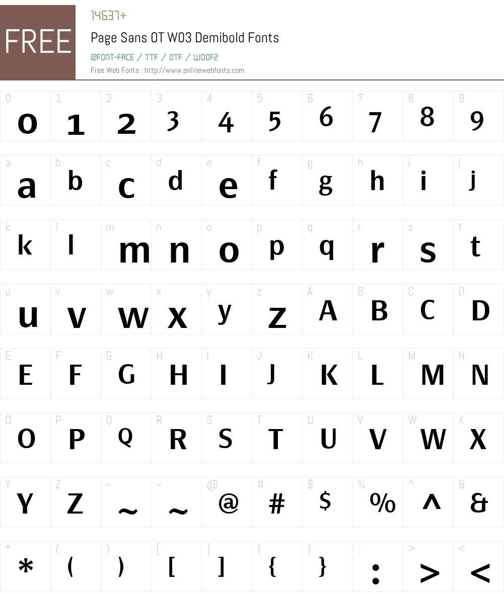 Page Sans OT W03 Demibold 7 504 Fonts Free Download