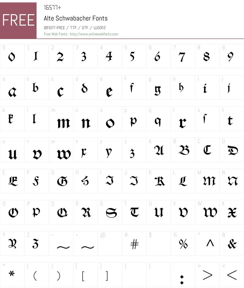 Alte Schwabacher 001 000 Fonts Free Download - OnlineWebFonts COM