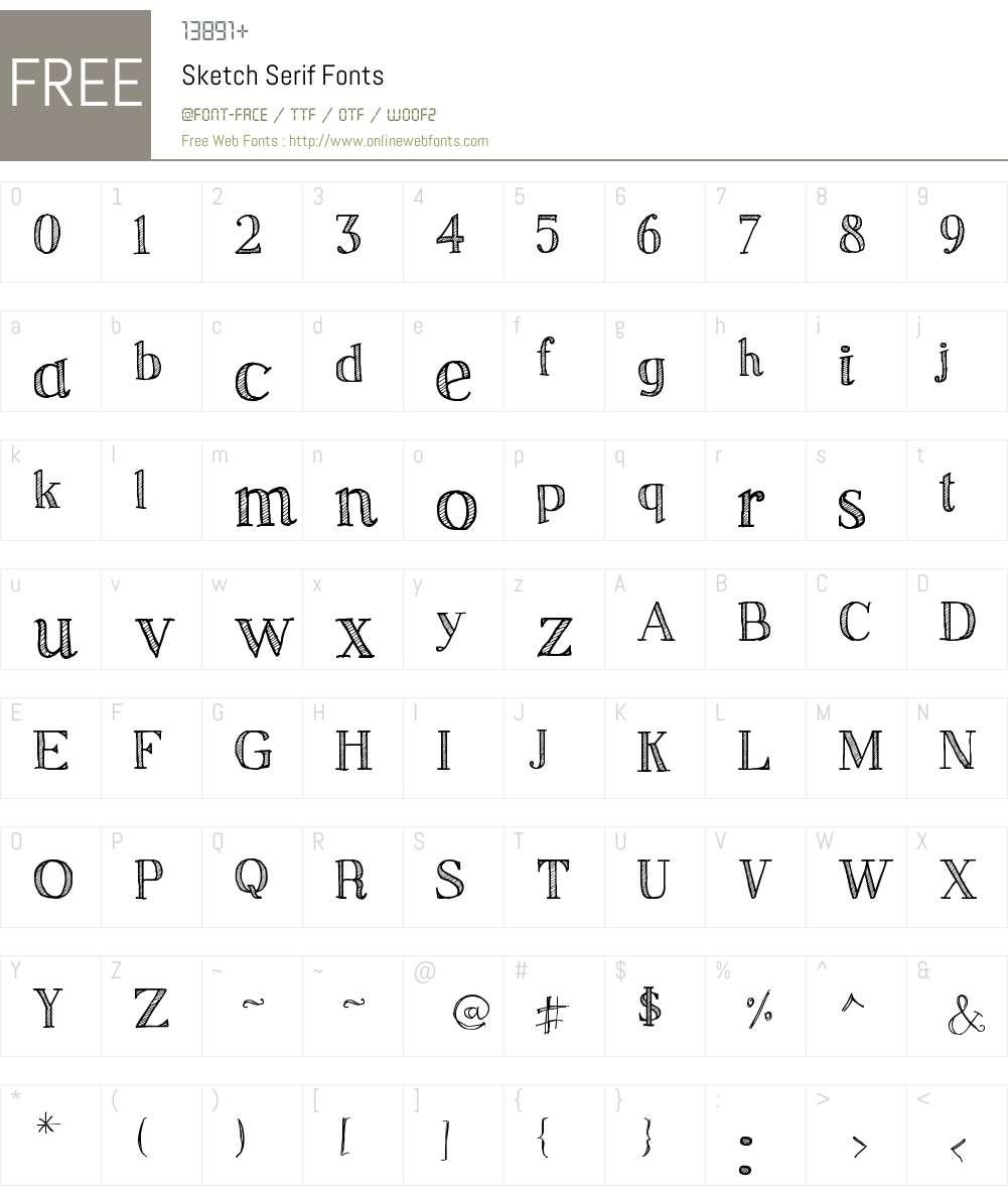 Sketch Serif V2 1 00 September 2, 2012, initial release