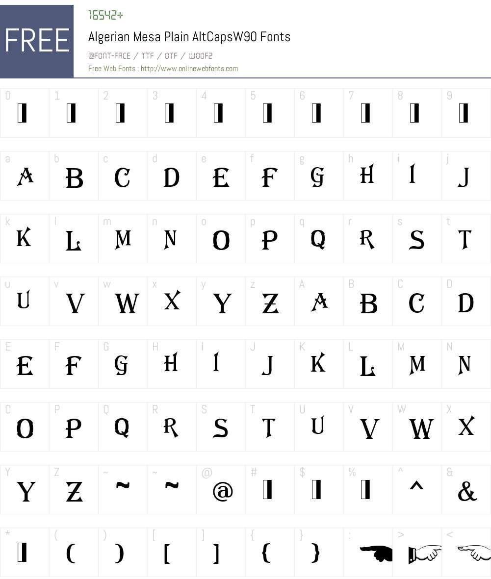 algerian mesa plain font free download