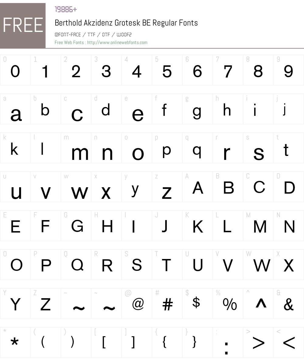 Berthold Akzidenz Grotesk BE Regular 001 000 Fonts Free