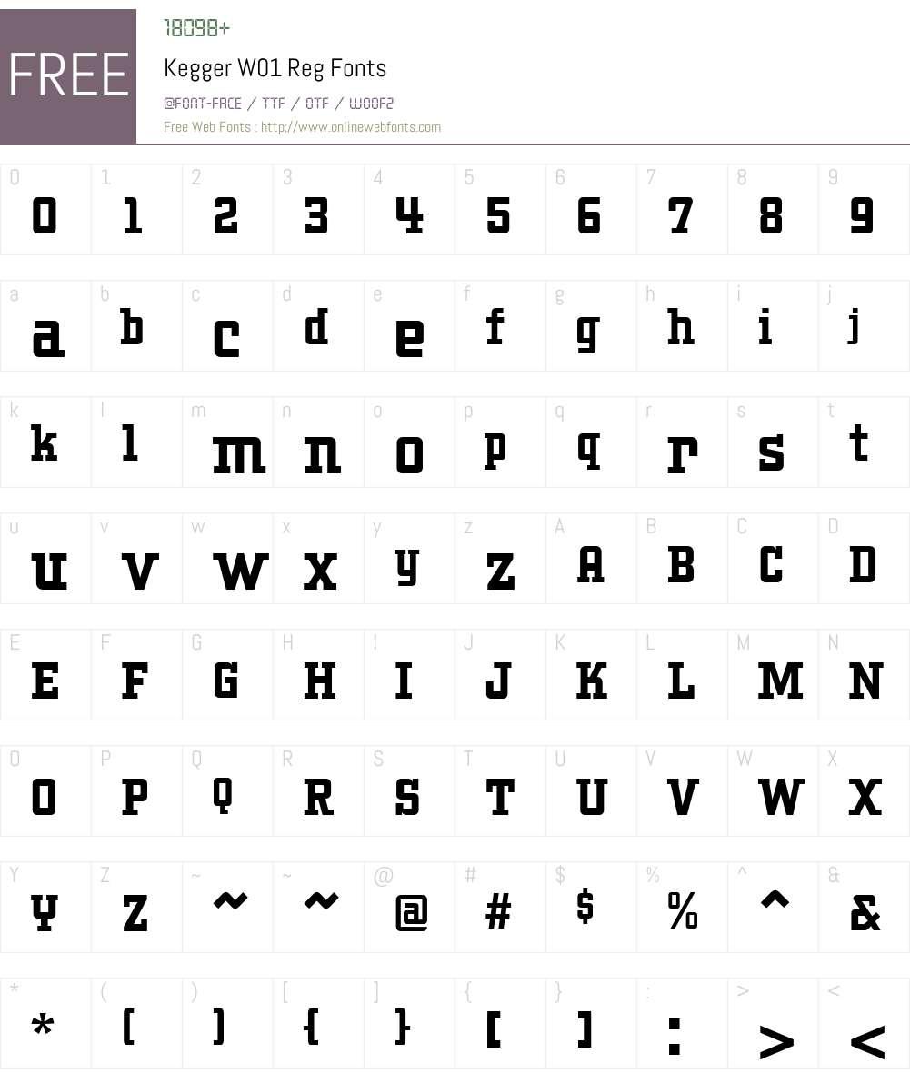 Kegger W01 Reg 1 00 Fonts Free Download - OnlineWebFonts COM