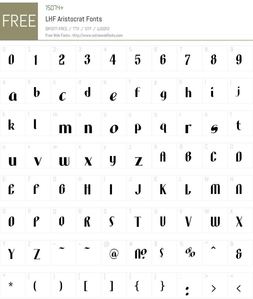 Lhf aristocrat free font download.