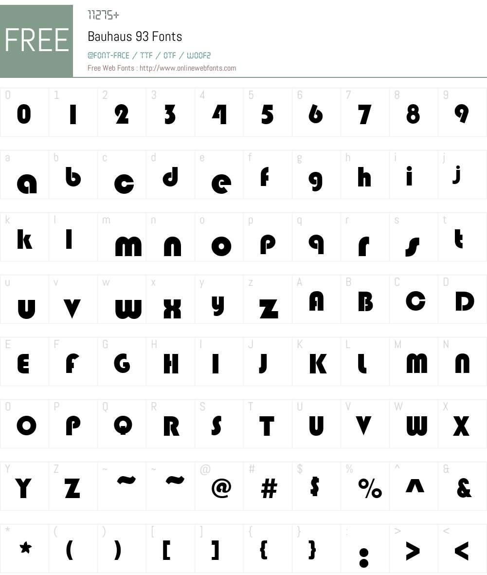 Bauhaus 93 V2 1 52 Fonts Free Download Onlinewebfonts Com