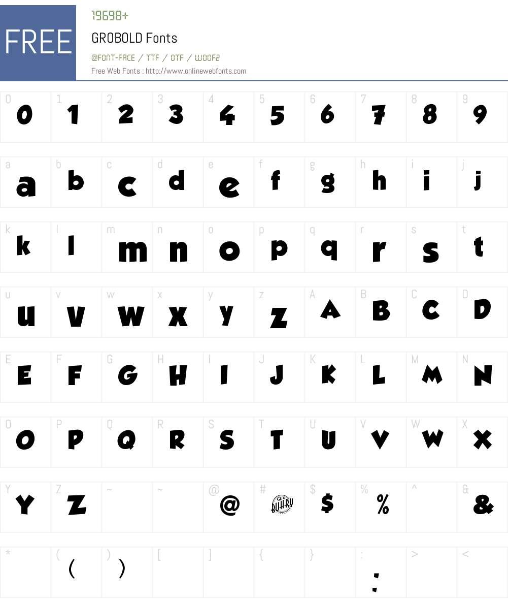 Grobold 001 000 Fonts Free Download Onlinewebfonts Com