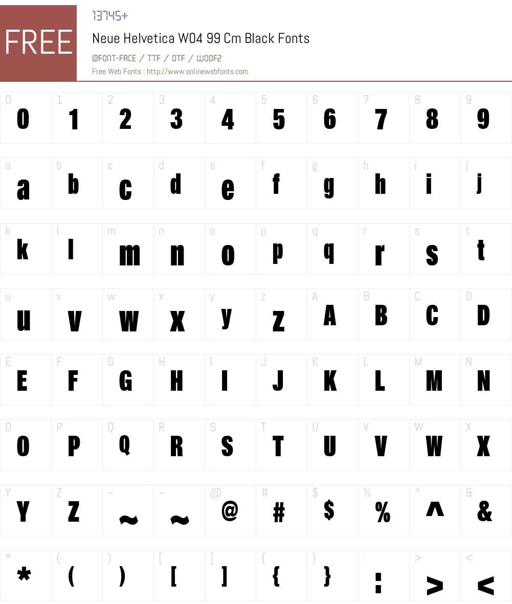 Neue Helvetica W04 99 Cm Black 1 000 Fonts Free Download