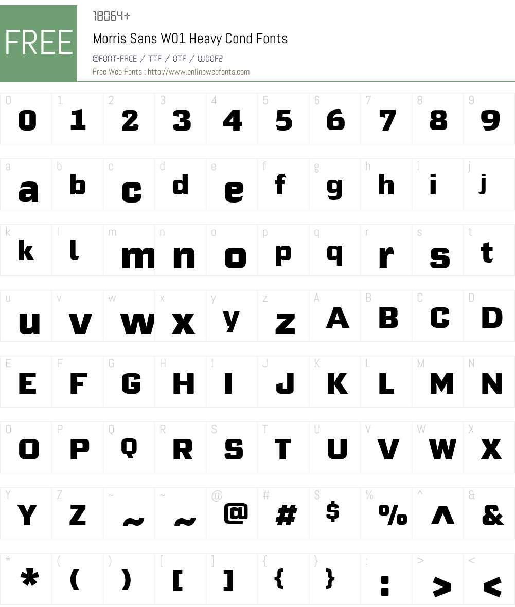 Morris Sans W01 Heavy Cond 2 02 Fonts Free Download
