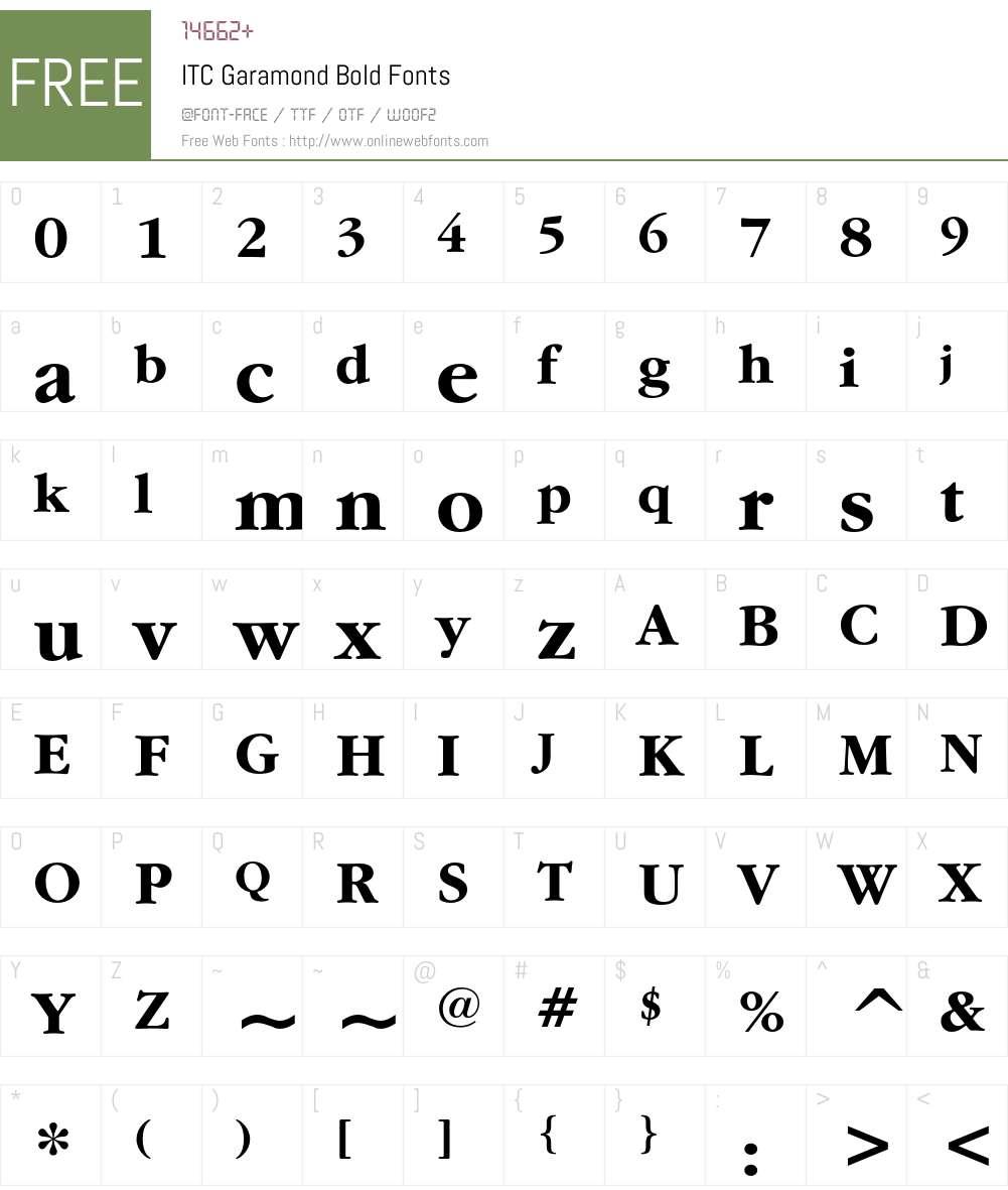 ITC Garamond Bold 2 0-1 0 Fonts Free Download - OnlineWebFonts COM