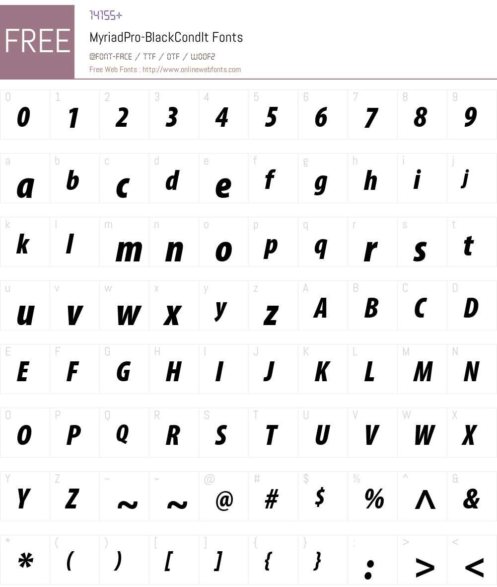 Myriad pro truetype font free download.