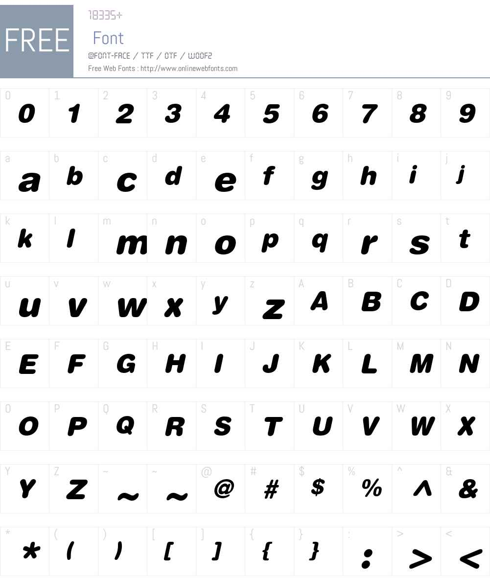 Helvetica Condensed Black Oblique Font Free Download