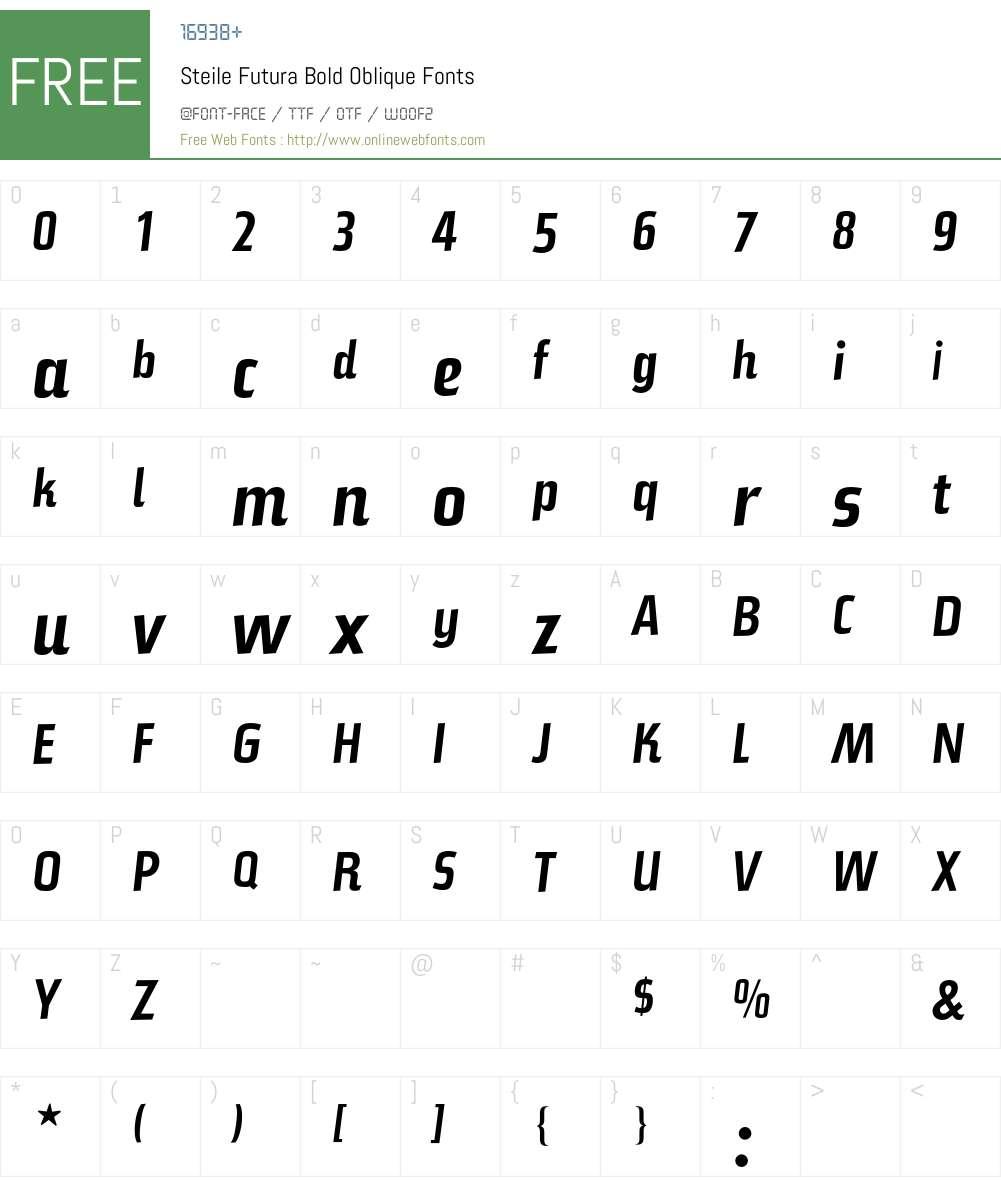 Steile Futura Bold Oblique 001 000 Fonts Free Download