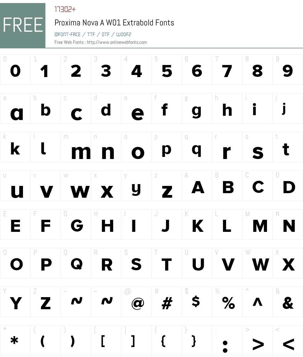 Proxima Nova A W01 Extrabold 2 015 Fonts Free Download