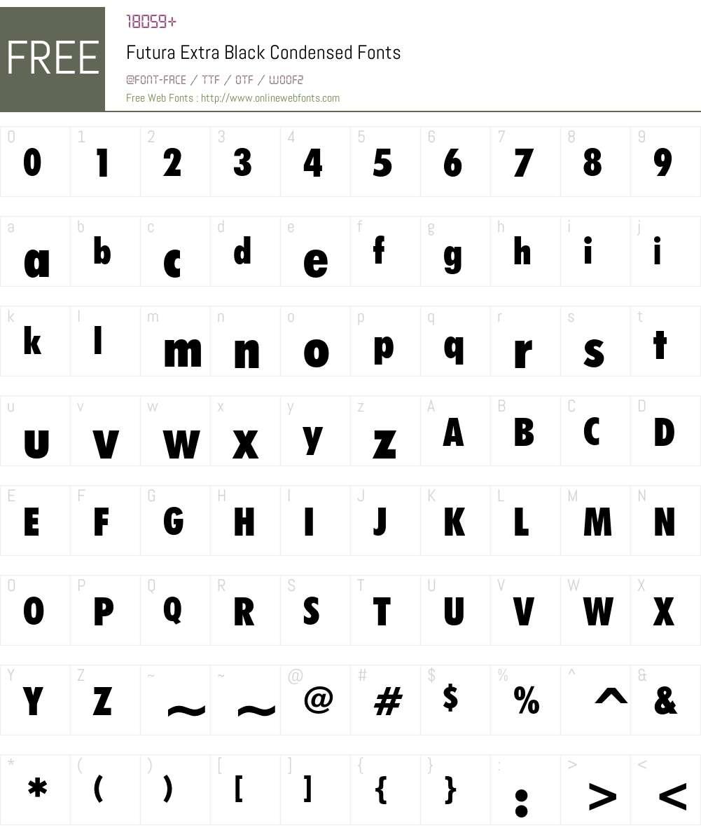 Futura Extra Black Condensed 003 001 Fonts Free Download