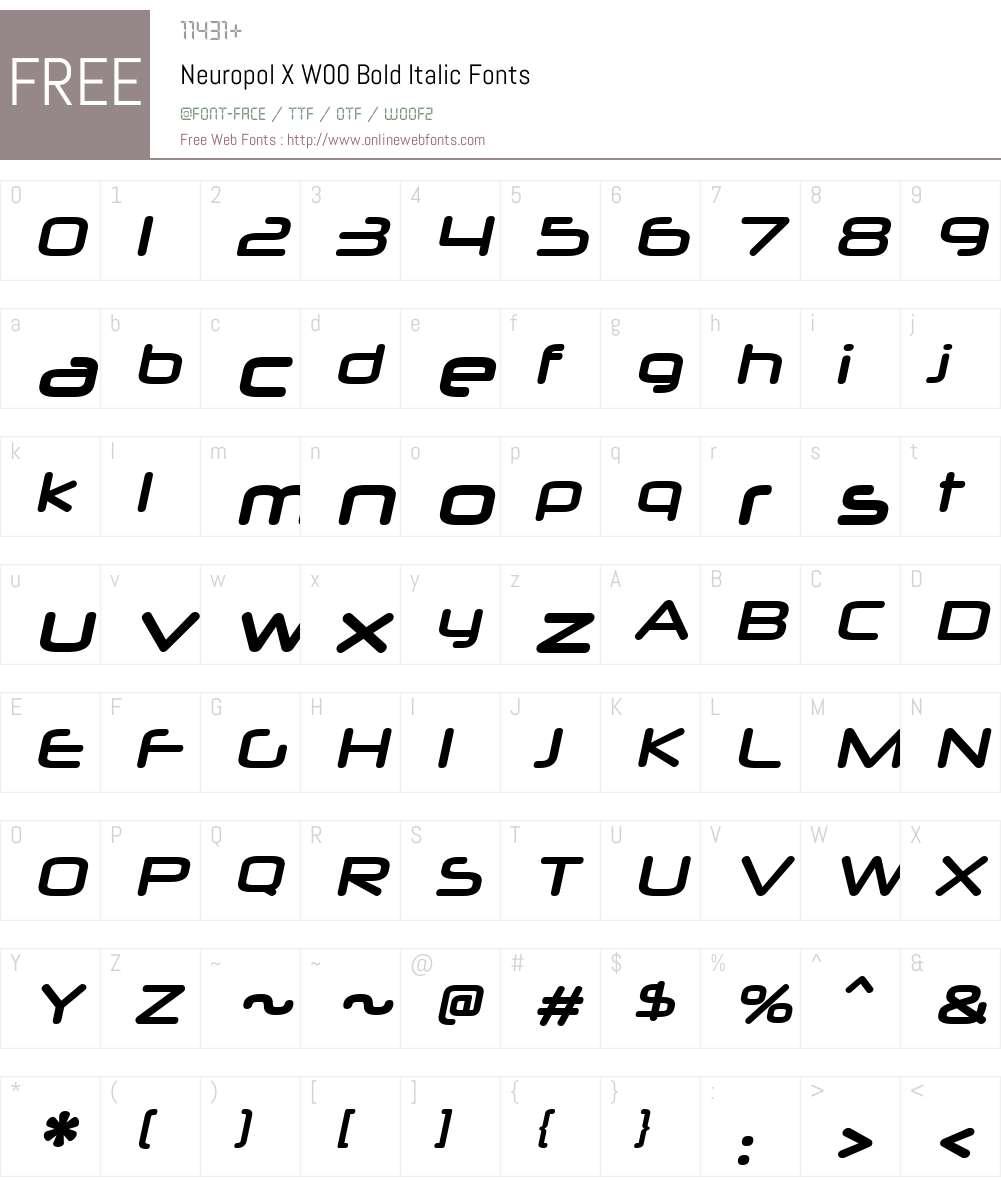 Neuropol X W00 Bold Italic 2 20 Fonts Free Download - OnlineWebFonts COM