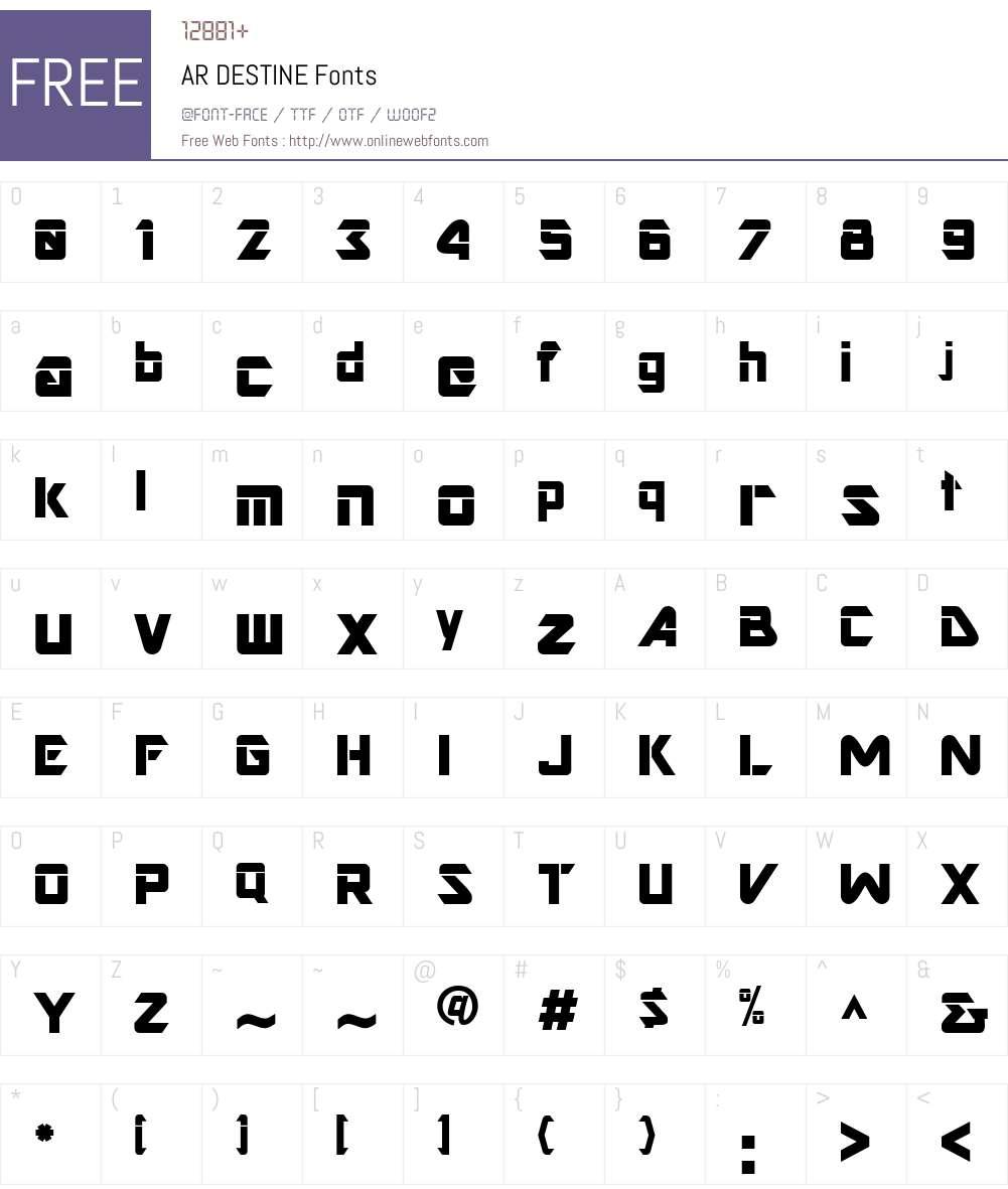 AR DESTINE 2 00 Fonts Free Download - OnlineWebFonts COM