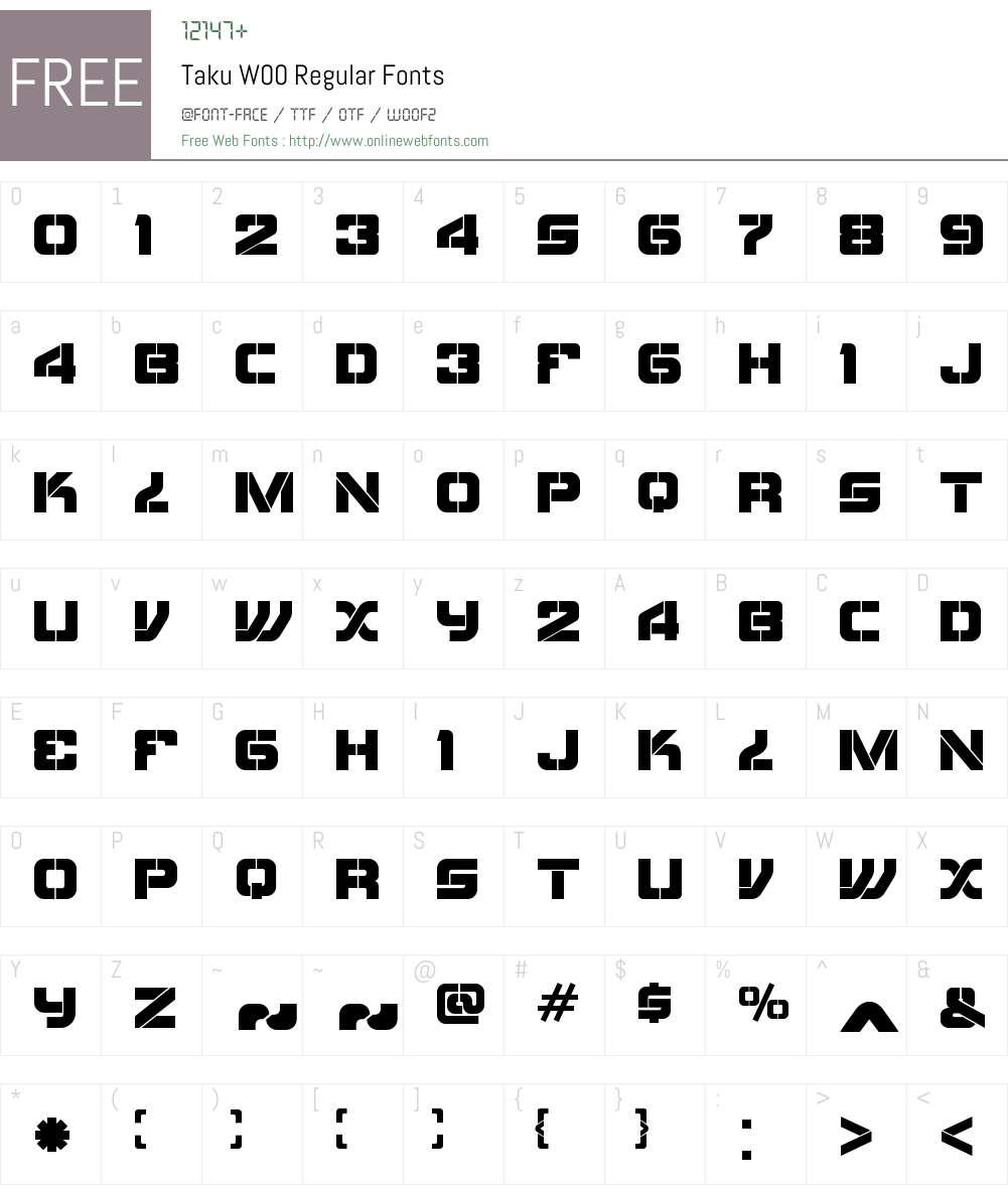 taku font free download