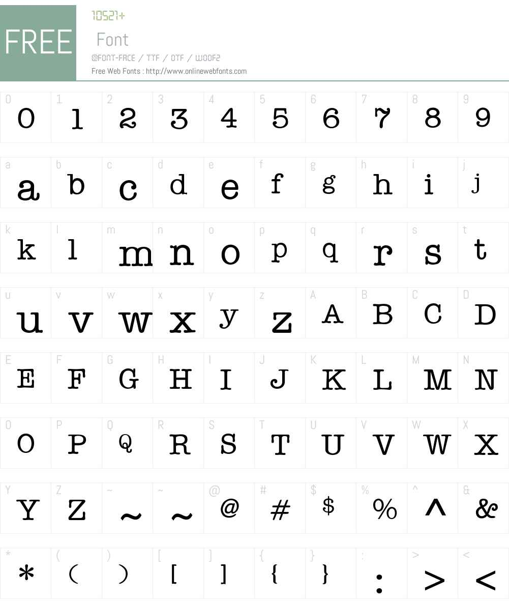 American typewriter normal font free download