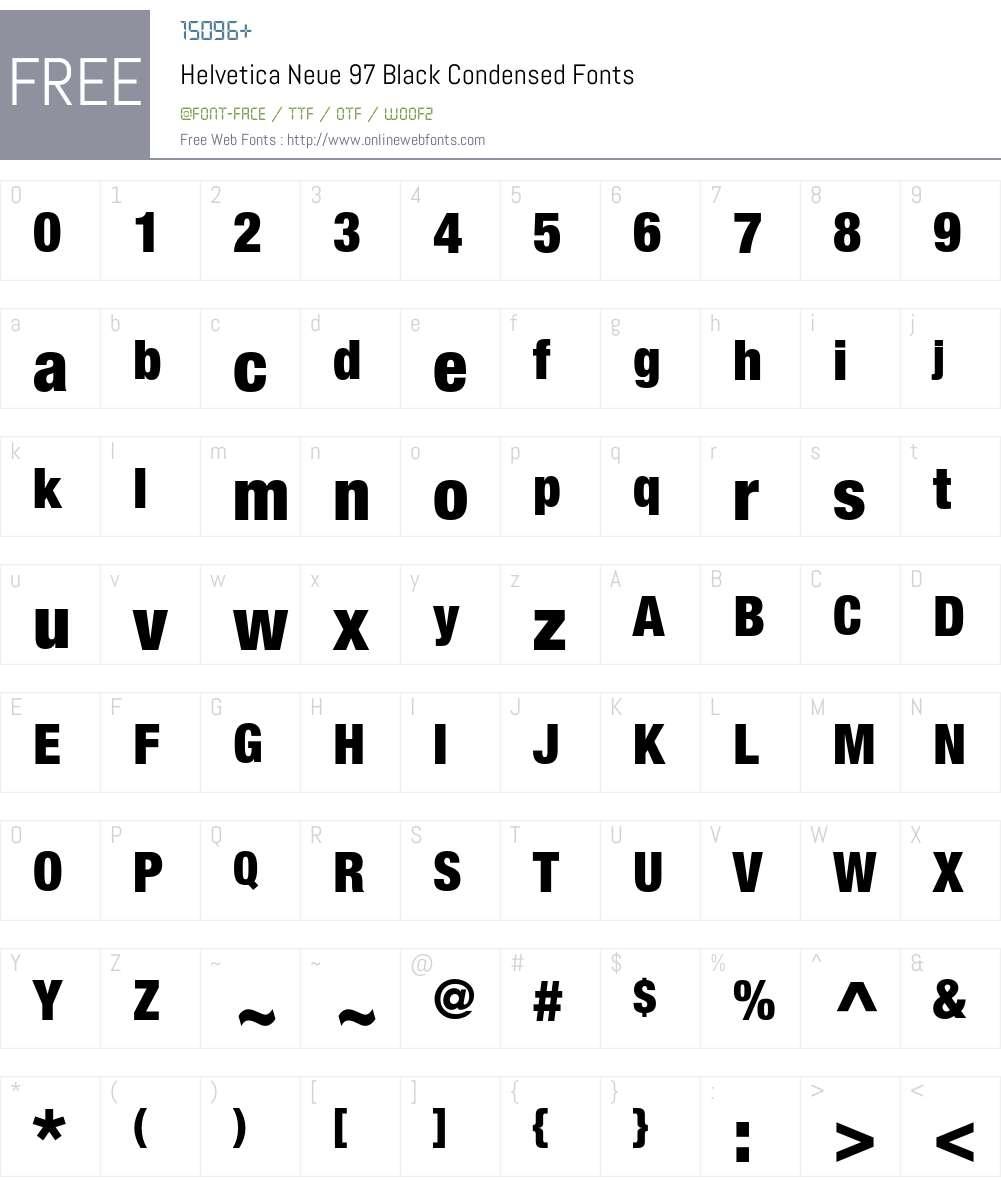 Helvetica Neue 97 Black Condensed OTF 1 0