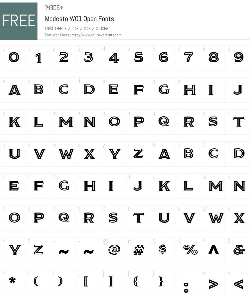 Modesto W01 Open 1 00 Fonts Free Download - OnlineWebFonts COM