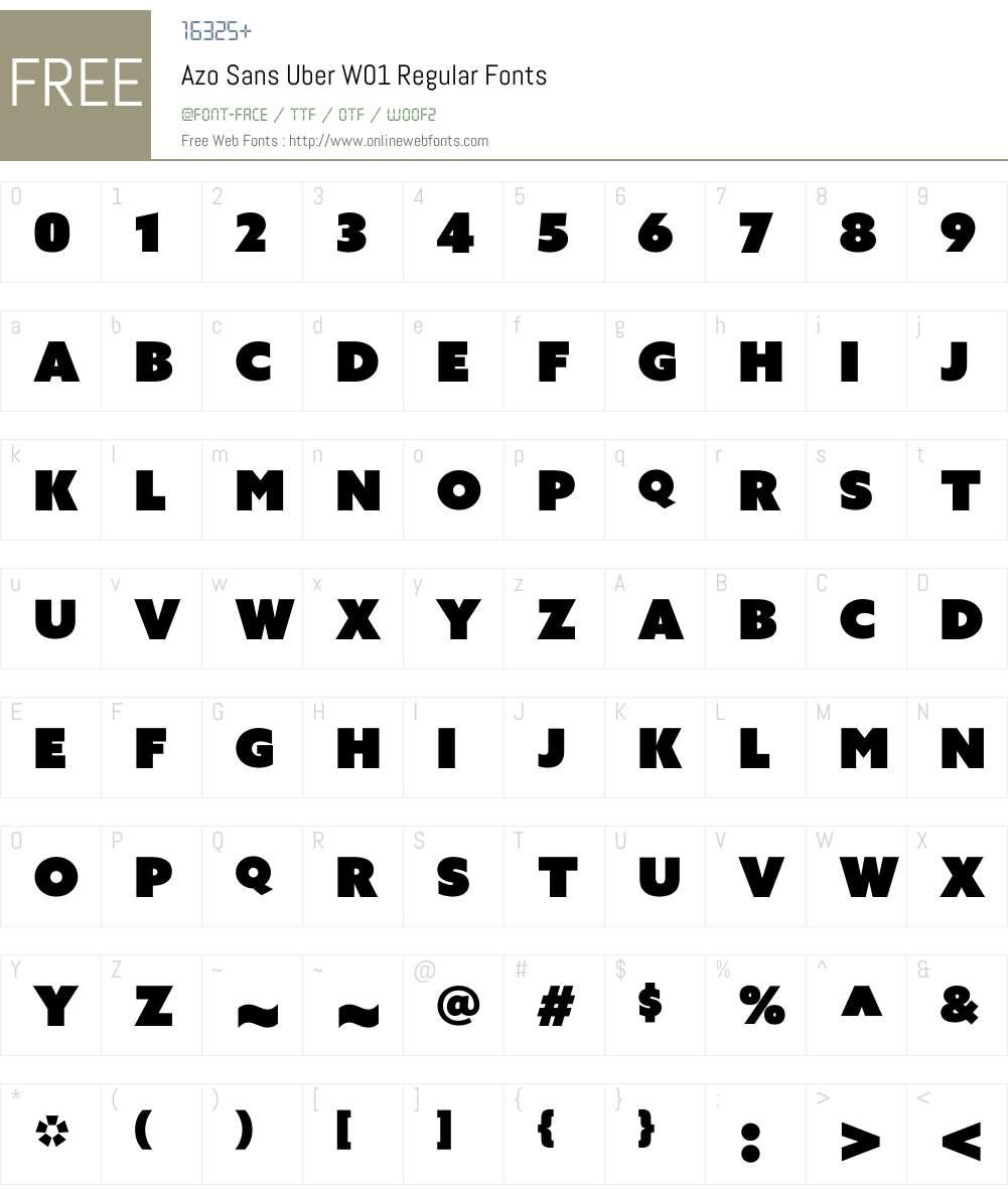 Azo Sans Uber W01 Regular 1 00 Fonts Free Download - OnlineWebFonts COM