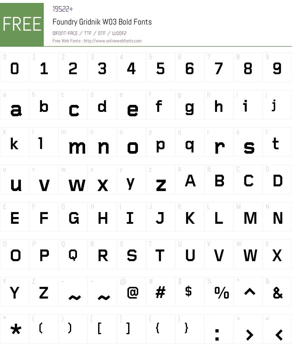 gridnik bold font