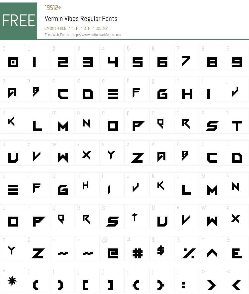 Vermin Vibes Regular 1 0 Fonts Free Download Onlinewebfonts Com