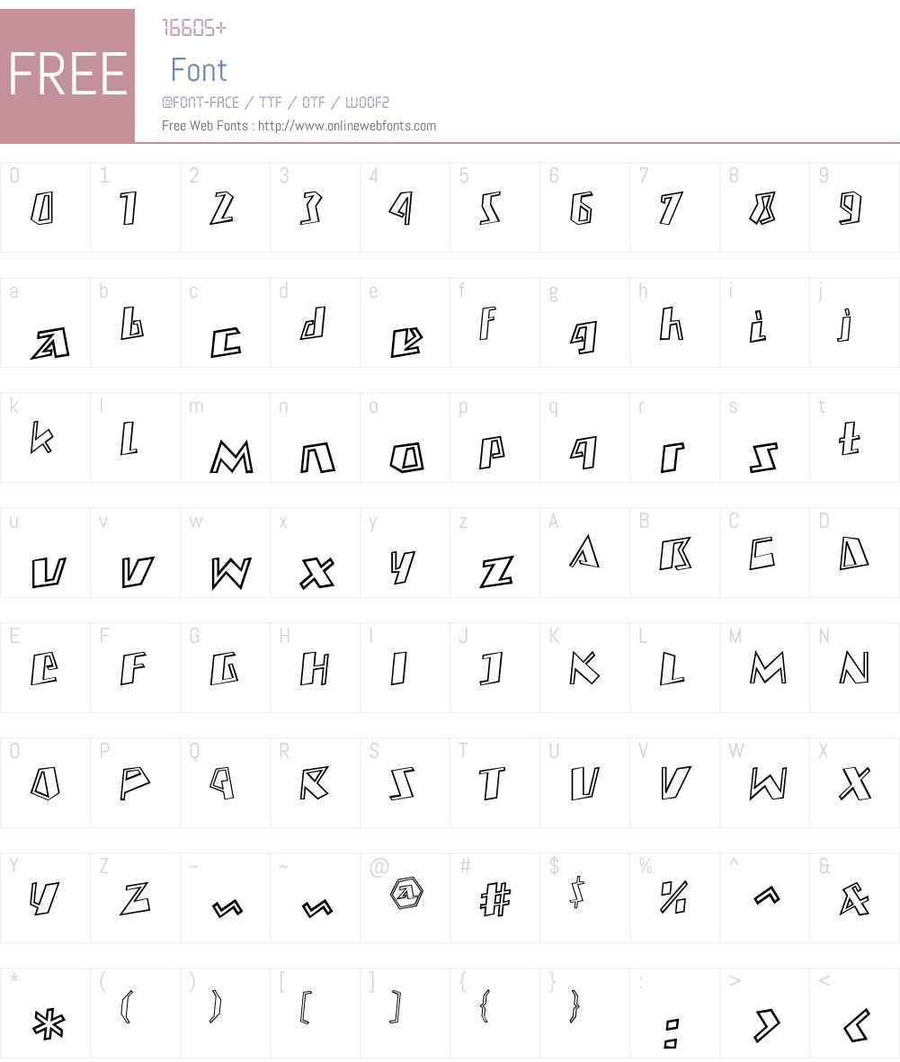 free outline fonts
