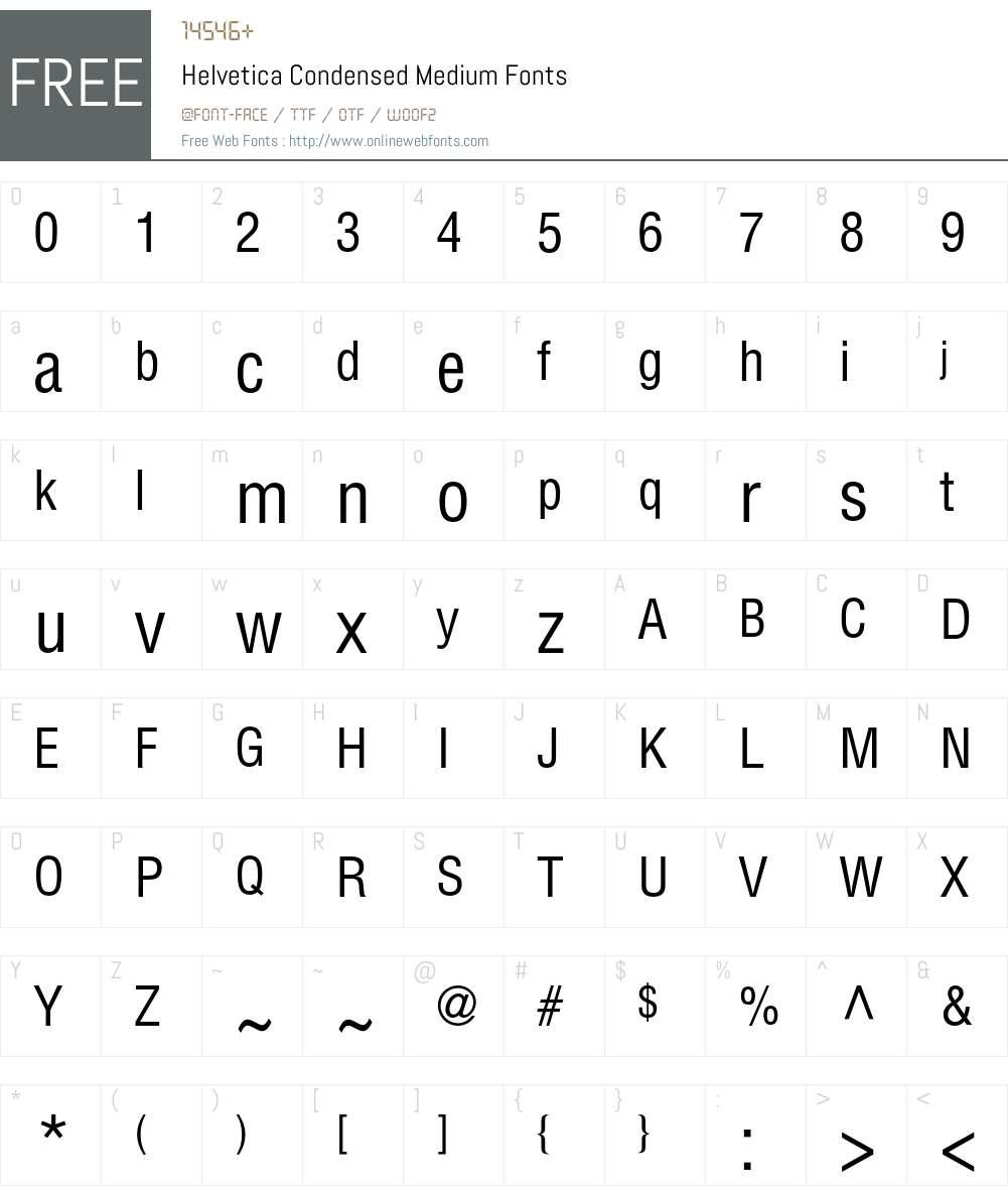 Helvetica Condensed Medium 001 003 Fonts Free Download