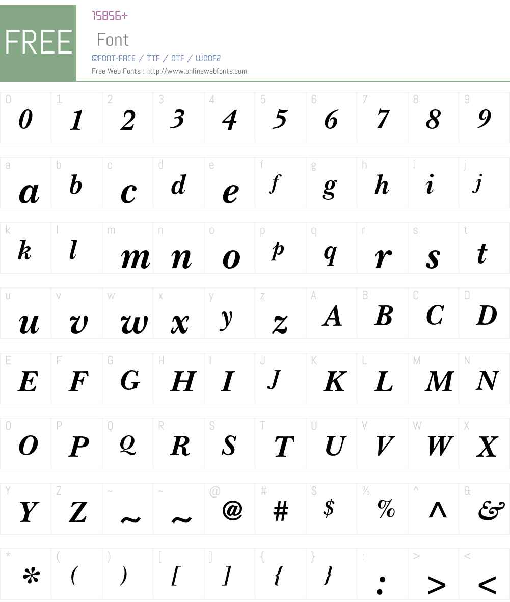 ITC New Baskerville Bold Italic 001.003 Fonts Free Download ...