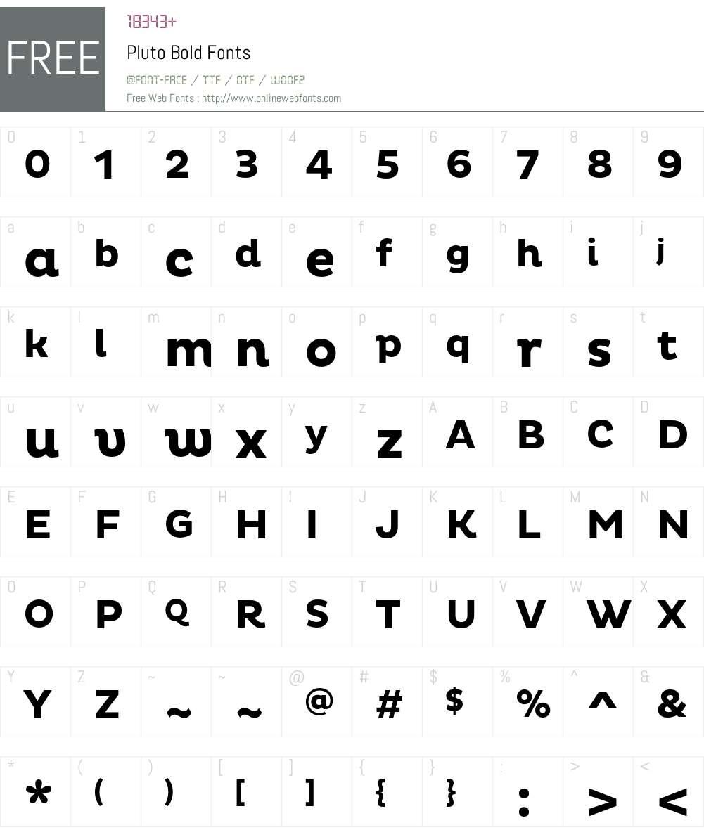 Pluto Bold 1 000 Fonts Free Download - OnlineWebFonts COM