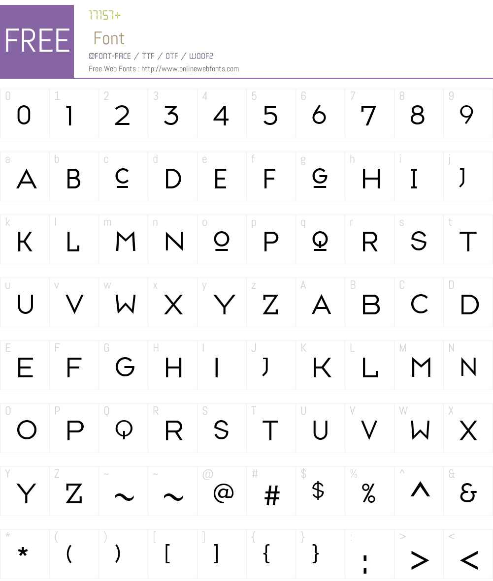 ff typeface six and seven free